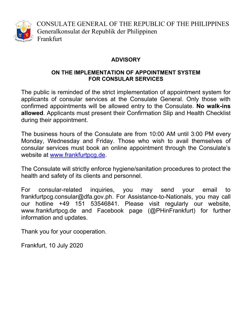 2) Advisory on Implementation of Appointment System (10 July)_001